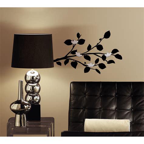 peel and stick wall decor roommates modern black branch peel and stick wall decals