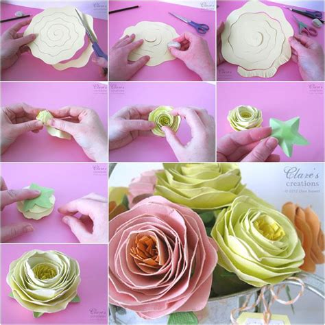 How To Make A Beautiful Paper - diy beautiful rolled spiral paper flower