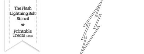 Flash Lightning Bolt Outline by The Flash Lightning Bolt Stencil Printable Treats