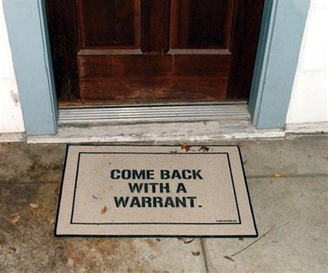 Warrant Doormat 40 brilliant doormats for every cool human being bored