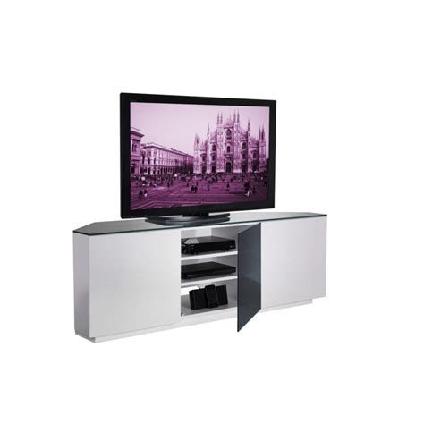 corner tv cabinet 55 inch ukcf milan gloss white and black corner tv cabinet up to