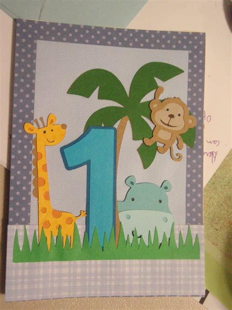 best 1 year old gifts homemade bday card for 1 year cards babies cards cards and card ideas