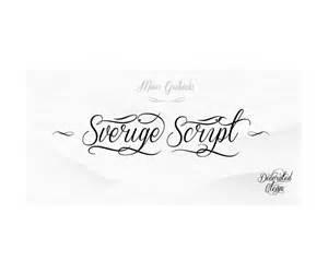 sverige script font family 123creative