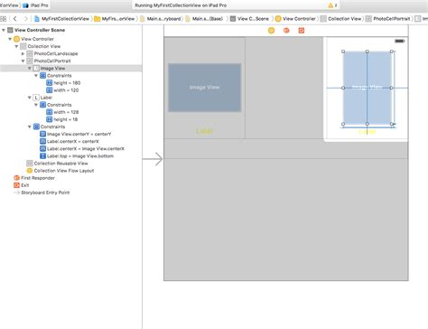 xcode uicollectionview tutorial ios second uicollectioncell prototype is not displayed