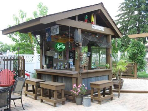 Outdoor Bar Designs With Back Wall My Backyard Tiki Bar Outdoor Kitchen