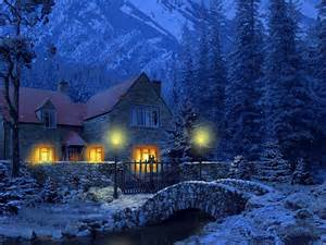 3d snowy cottage animated wallpaper software informer