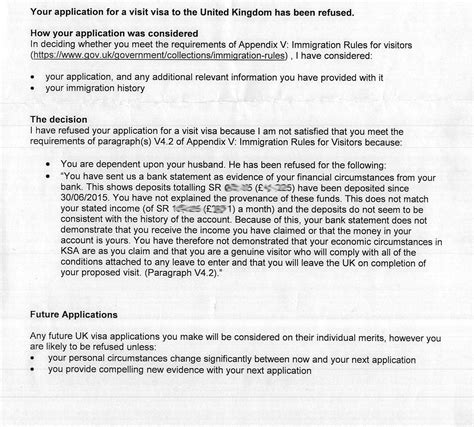 Visa Declined Letter Uk Visit Visa Refused Due To Suspected Funds Parking Best Strategy To Re Apply Travel Stack
