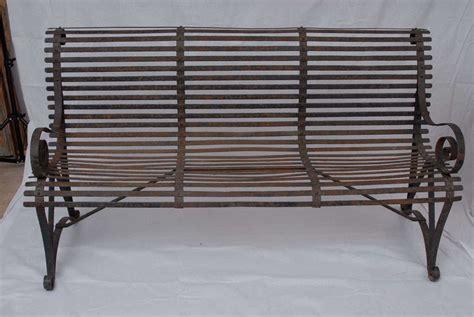 garden bench wrought iron wrought iron garden bench at 1stdibs