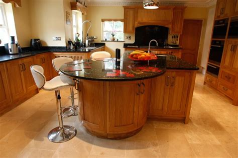 oak kitchen island with breakfast bar kitchen and decor