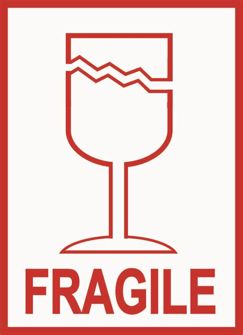 printable glass labels fragile glass label
