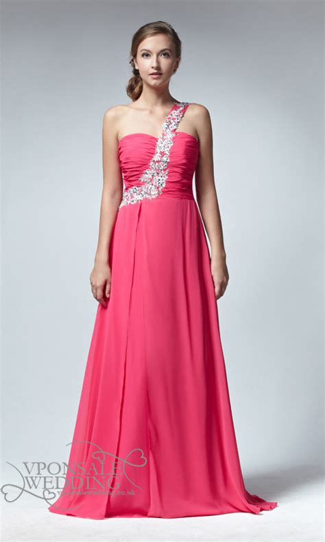 one shoulder long bridesmaid gown dvw0062 vponsale