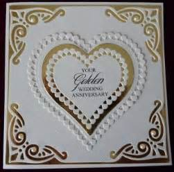handcrafted by helen 3 golden wedding anniversary cards