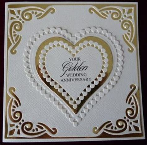 golden wedding cards to make handcrafted by helen 3 golden wedding anniversary cards