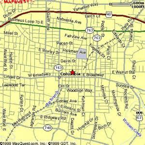 free printable maps city of columbia missouri map printfree