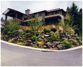 sloping front yard landscaping ideas garden pinterest