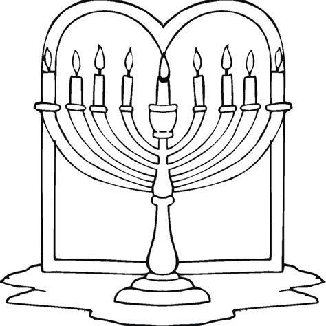 Free Coloring Pages Of Jewish Holidays Chanukah Coloring Pages