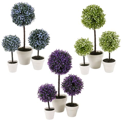 decorative artificial outdoor plant tree pot colour