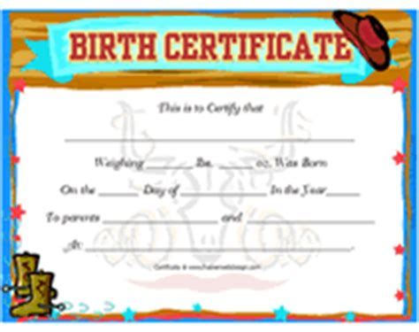 free printable blank baby birth certificates templates