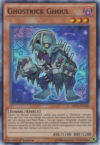 Ghostrick Ghoul Mp14 En126 1st Edition ghostrick ghoul mp14 en126 1st edition yu gi oh singles 187 2014 mega tin