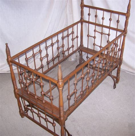 Doll Cribs And Cradles by Antique Doll Crib And Rocking Cradle Ebay