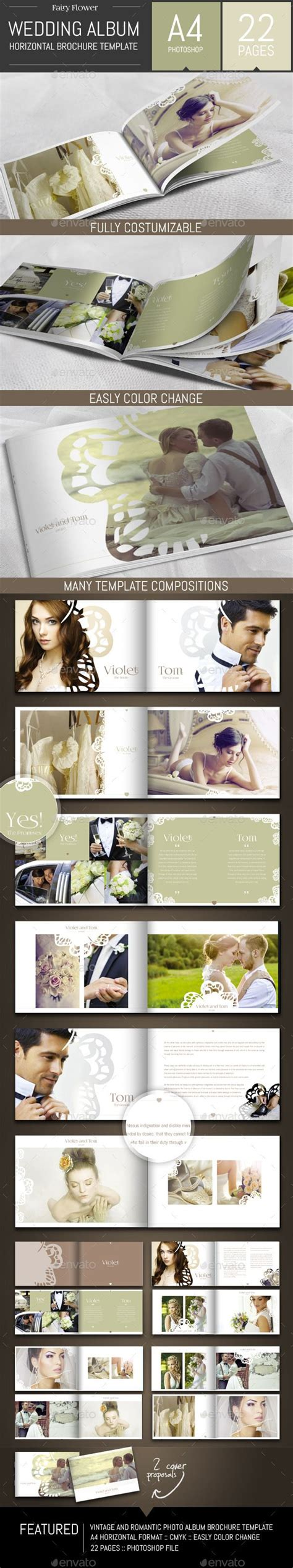 Wedding Photo Album Horizontal Brochure Template by Die Besten 25 Hochzeitsbuch Layout Ideen Auf