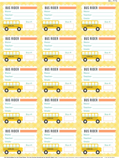 lunch card template with name and student number school days printables labels part 1 worldlabel
