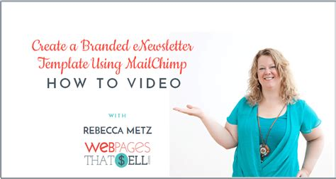 Create A Branded Enewsletter Template With Mailchimp Website Marketing Solutions Seo Web How To Create A Mailchimp Template
