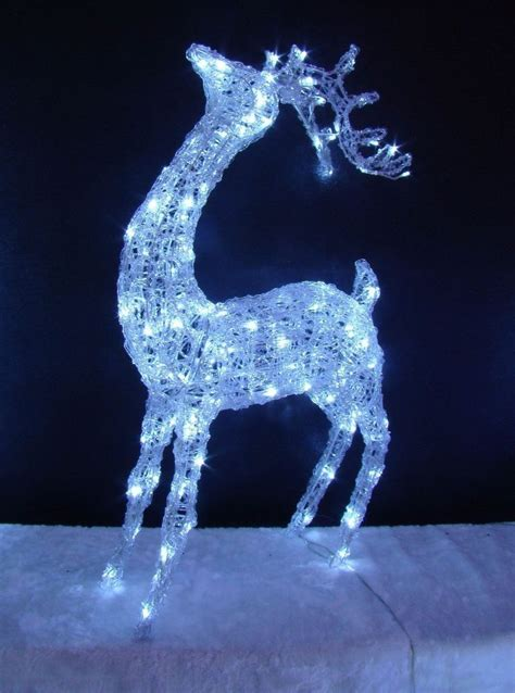 led acrylic head up reindeer standing light up indoor