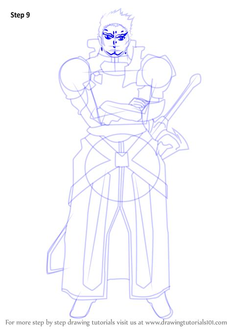 tutorial drawing online learn how to draw eugene from sword art online sword art