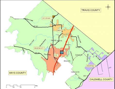 hays county map texas commissioner precinct 2 hays county