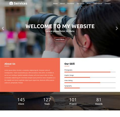 start responsive one page template kickstart 2018 with professional html bootstrap templates