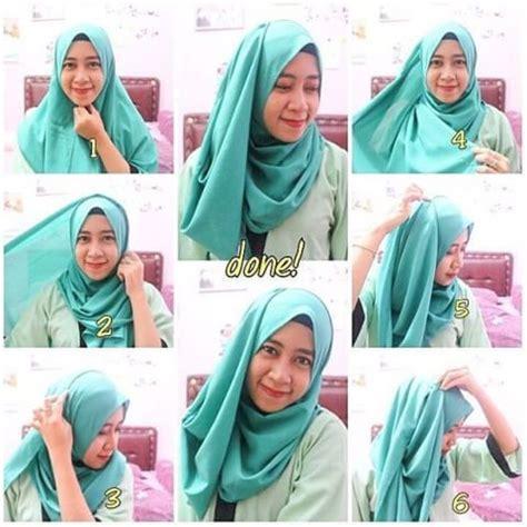 6 tutorial berhijab syari dengan jilbab tutorial cara memakai kerudung dengan mudah jilbab instan