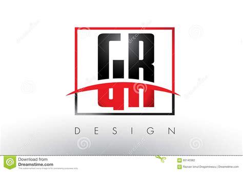 GR G R Logo Letters Con Colores Rojos Y Negros Y Swoosh ... G R Logo