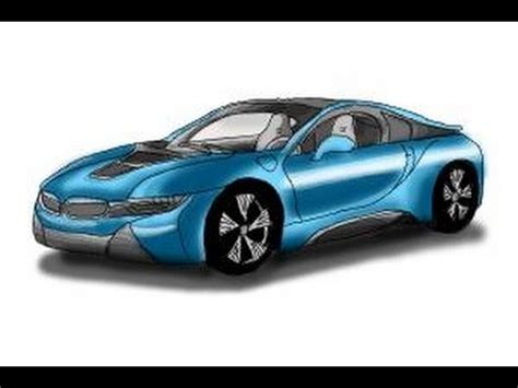 how to draw a car bmw i8 step by step easy how to draw a bmw i8