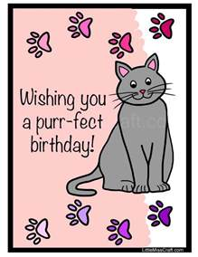 cat birthday coloring page free printable happy birthday and birthdays