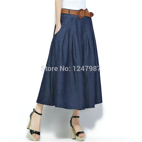 quality 2016 cotton winter denim skirt casual