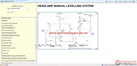 free online auto service manuals 2000 mitsubishi pajero transmission control auto repair manuals mitsubishi pajero 2011 workshop manual