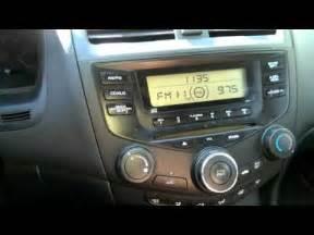 2004 Honda Accord Replacement Radio 2003 Honda Accord Radio Repair Part 1 How To Save