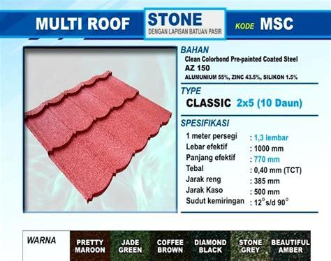 Seng Multiroof Di Pekanbaru spesifikasi atap genteng metal multiroof multicolor