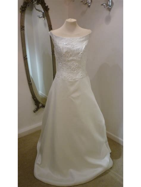 Wedding Dresses Size 12 by Cotswold Frock Shop Lace Bodice Wedding Dress With