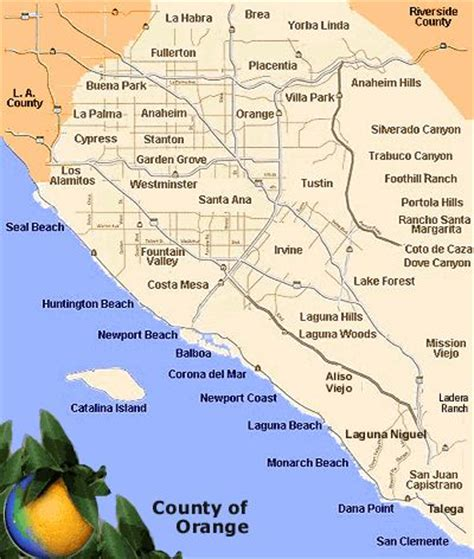 orange county california map with cities quotes map of beaches in orange county laguna beach california