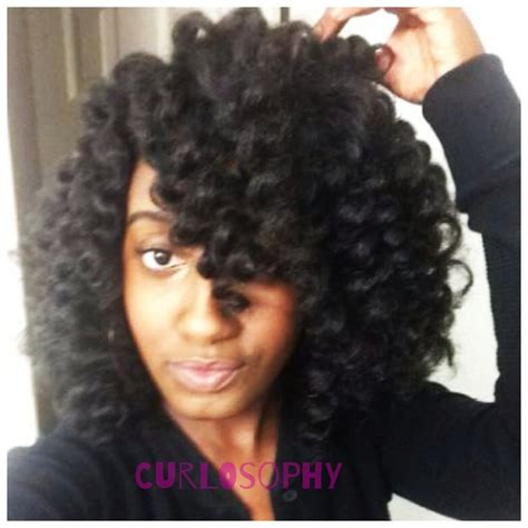 how to perm rod crochet hair crochet braids with marley hair on perm rods curlosophy