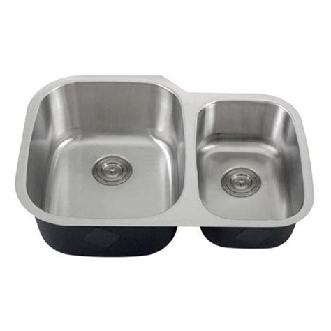undermount double bowl kitchen sink for 30 inch cabinet 30 inch 18 gauge stainless steel undermount 60 40 double