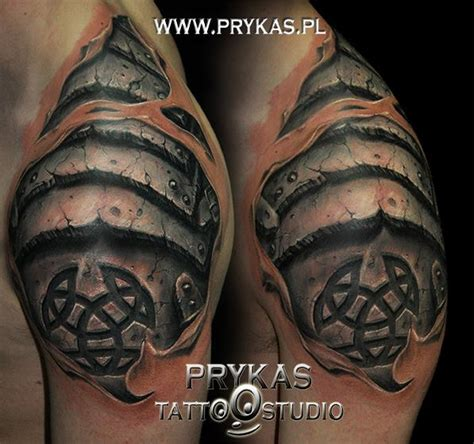 3d shoulder tattoo shoulder tribal 3d by prykas