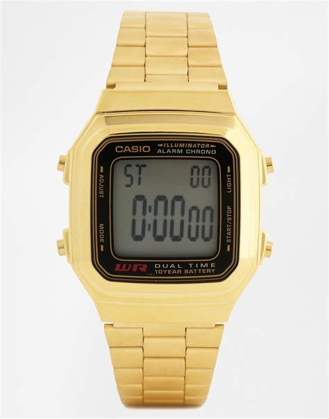 Casio Gold lyst g shock gold digital vintage style a178wga 1