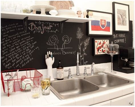 chalkboard kitchen backsplash chalkboard backsplash home