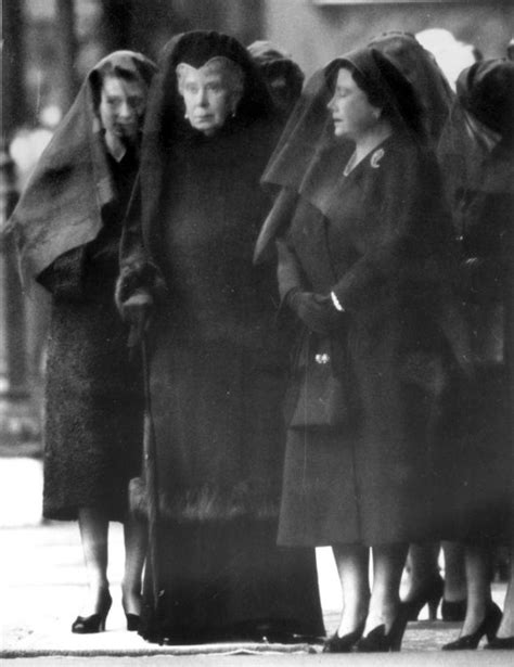 Three Queens in mourning at the funeral for King George VI