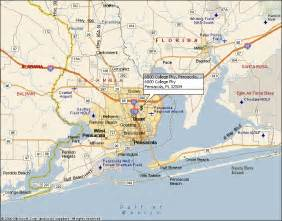map of pensacola florida map of pensacola florida and surrounding areas