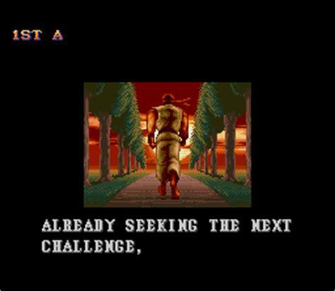 Ending for Super Street Fighter 2-Ryu (Super NES)