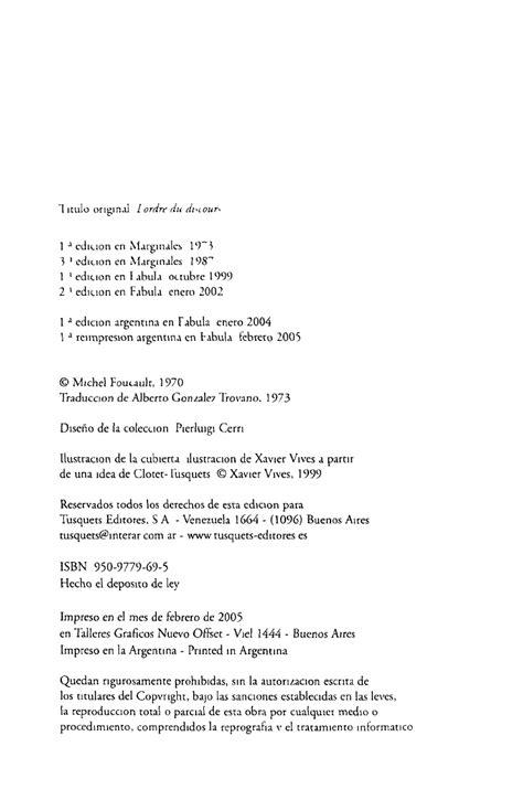 el orden del discurso 848310654x el orden del discurso michel foucault
